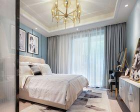 100平米三室两厅英伦风格卧室装修案例