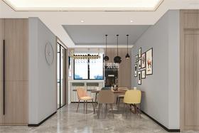 130平米三室兩廳北歐風格餐廳裝修圖片大全
