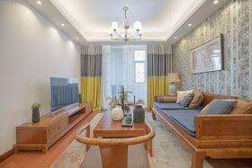 90平米三室两厅中式风格客厅图片