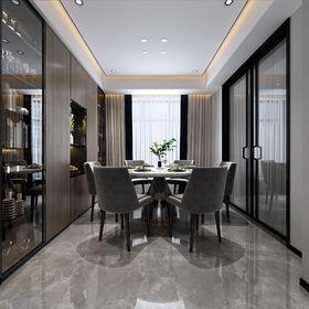 110平米三室兩廳現代簡約風格餐廳圖