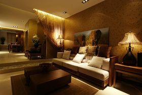 120平米三室两厅东南亚风格客厅装修效果图