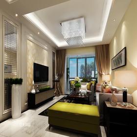 140平米三室兩廳現代簡約風格客廳設計圖