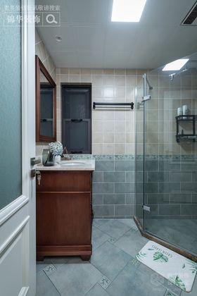 120平米美式风格卫生间图片