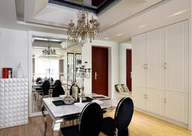 130平米三室一厅现代简约风格餐厅设计图