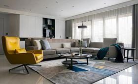 80平米三室两厅现代简约风格客厅图片