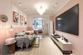 60平米一室一厅北欧风格客厅图片