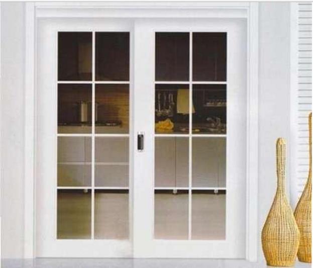 厨房隔断装修效果图—实木框厨房移门-厨房隔断装修设计