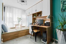 经济型70平米三室一厅混搭风格书房装修效果图
