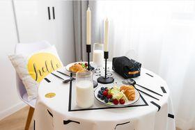 50平米一室一厅北欧风格餐厅图片