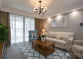 富裕型90平米三室两厅美式风格客厅效果图