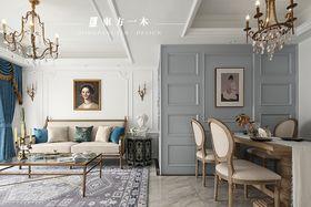 80平米三室两厅法式风格客厅图