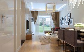 5-10万100平米三室三厅现代简约风格客厅装修图片大全