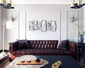 80平米三美式风格客厅装修图片大全