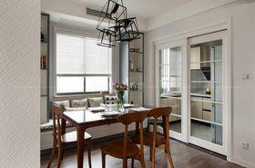 110平米三室一廳現代簡約風格餐廳圖片