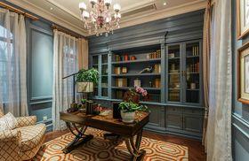 140平米复式英伦风格书房图片