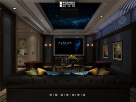 豪华型140平米别墅新古典风格影音室图片