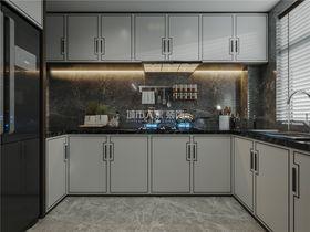 130平米三室两厅新古典风格厨房欣赏图