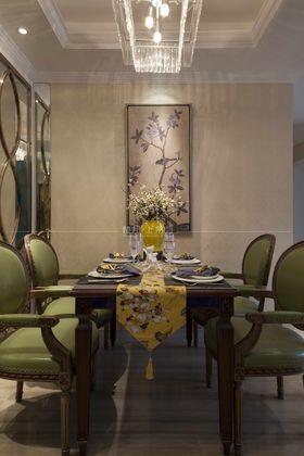 110平米三室一厅混搭风格餐厅图
