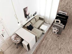 60平米复式日式风格客厅图片大全