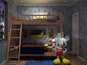 70平米三室一厅现代简约风格儿童房装修案例