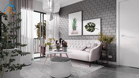 50平米小户型北欧风格客厅壁纸图片