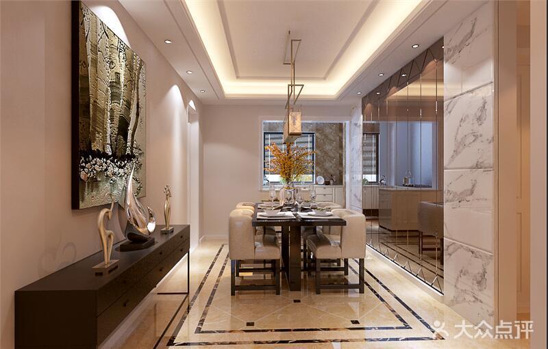 20万以上130平米三室两厅现代简约风格餐厅图片大全