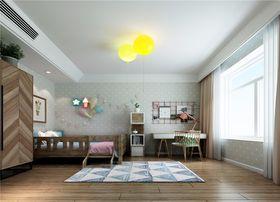 130平米三室两厅混搭风格儿童房图