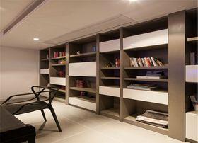 120平米三室一厅混搭风格书房图片
