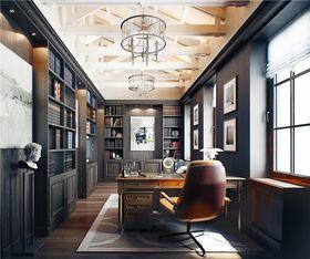 140平米復式美式風格書房欣賞圖