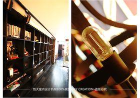 60平米复式混搭风格卧室图