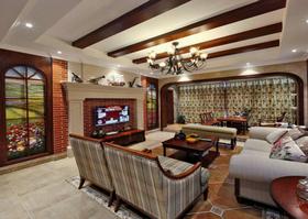 110平米三美式风格客厅装修效果图