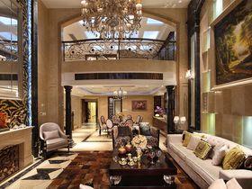 富裕型140平米现代简约风格客厅效果图