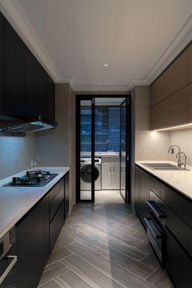 120平米三室一厅混搭风格厨房图片大全