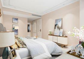 140平米三室一厅混搭风格卧室图