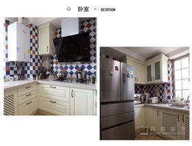 豪华型80平米三室三厅地中海风格厨房装修图片大全