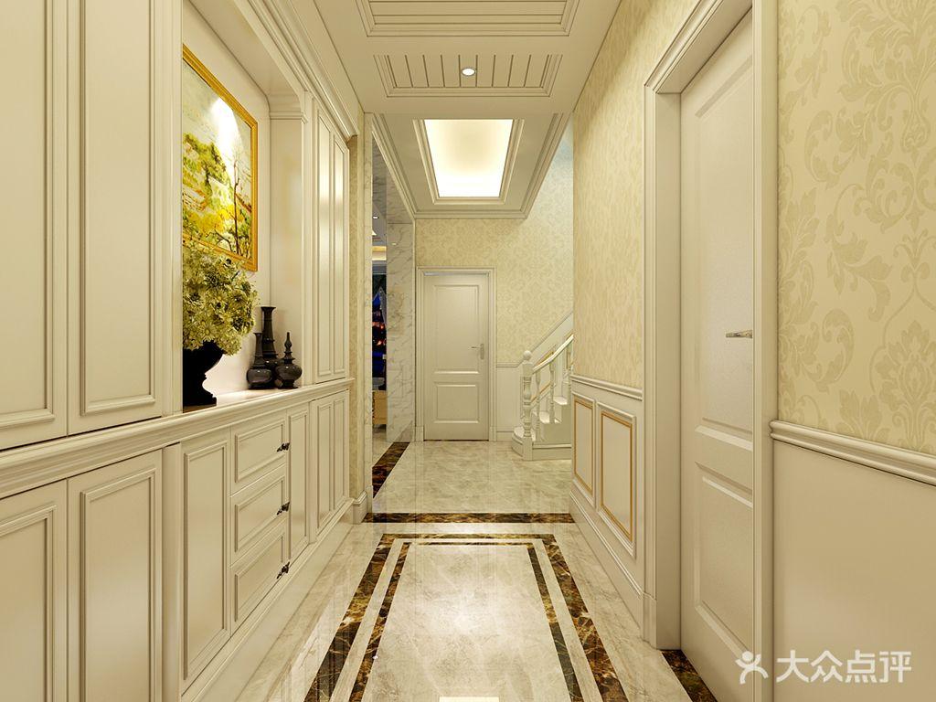 140平米三室三厅新古典风格玄关鞋柜装修效果图图片