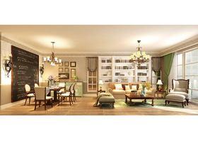 20万以上140平米三室两厅美式风格客厅装修图片大全