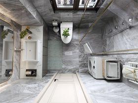 140平米三室三厅美式风格卫生间图片大全