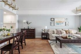 100平米三室两厅美式风格客厅欣赏图