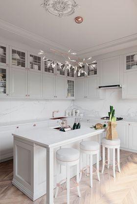 120平米三室一厅欧式风格厨房设计图