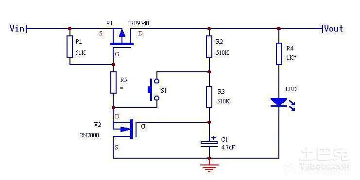 如图所示,在未按AN时,SCR1不导通,继电器或接触器K不动作,相当于断开状态。按一下AN时,12V电压经R1、AN、VD1为SCR1提供触发电流使其导通,K得电,触点接通负载工作。由于电容两端电压不能突变,因而SCR2在按下AN时不导通,电流经R3、VD2向C充电。若再次按下AN时,此时电容C上的电压做为SCR2的触发电压,使SCR2在AN闭合时导通,SCR1的阳极电压降低,SCR1截止,K释放。电容C通过R2、SCR2的控制极、阴极进行放电,电路恢复到原来状态。从而实现自锁作用。