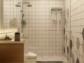 110平米混搭风格卫生间设计图