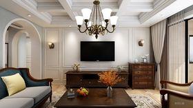 130平米三美式风格客厅图片大全