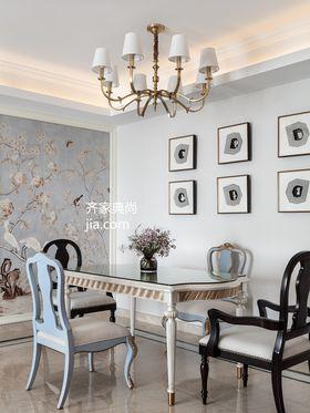 110平米三室两厅美式风格餐厅效果图