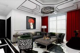 80平米混搭風格客廳沙發欣賞圖