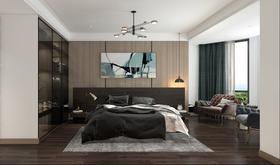 140平米三室两厅现代简约风格卧室图