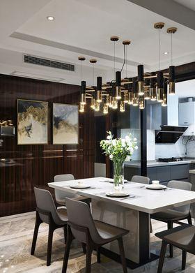 110平米三室两厅现代简约风格餐厅装修效果图