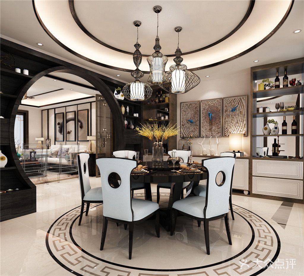 130平米三室两厅中式风格餐厅装修图片大全