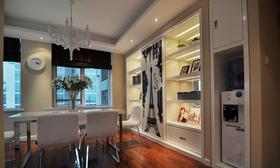 富裕型140平米三室两厅现代简约风格餐厅效果图