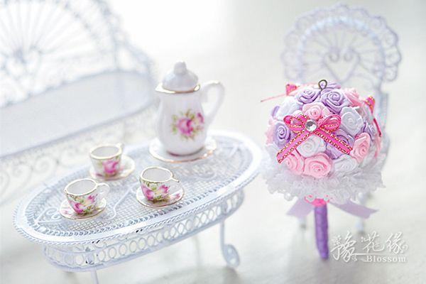 手捧花与新娘的秘密私语